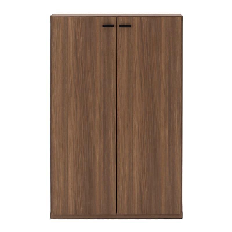 重厚感のあるがっちり本棚 板扉上下セット高さ228cm+天井突っ張り金具 板扉 幅74.5cm(ア)ブラウン