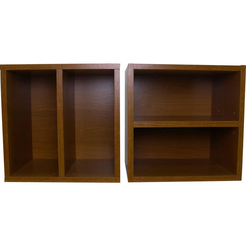 【お得な6個セット】組み合わせ自在なシステムボックス 棚板は縦でも横でも使えます。雑誌を傷めずらい平置きにする場合も対応できます。