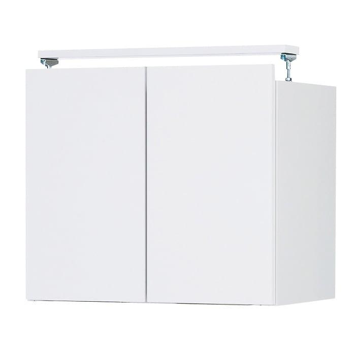 日用品もしまえる頑丈段違い書棚上置き(幅80cm) (ア)ホワイト ※写真は幅60cmタイプです。
