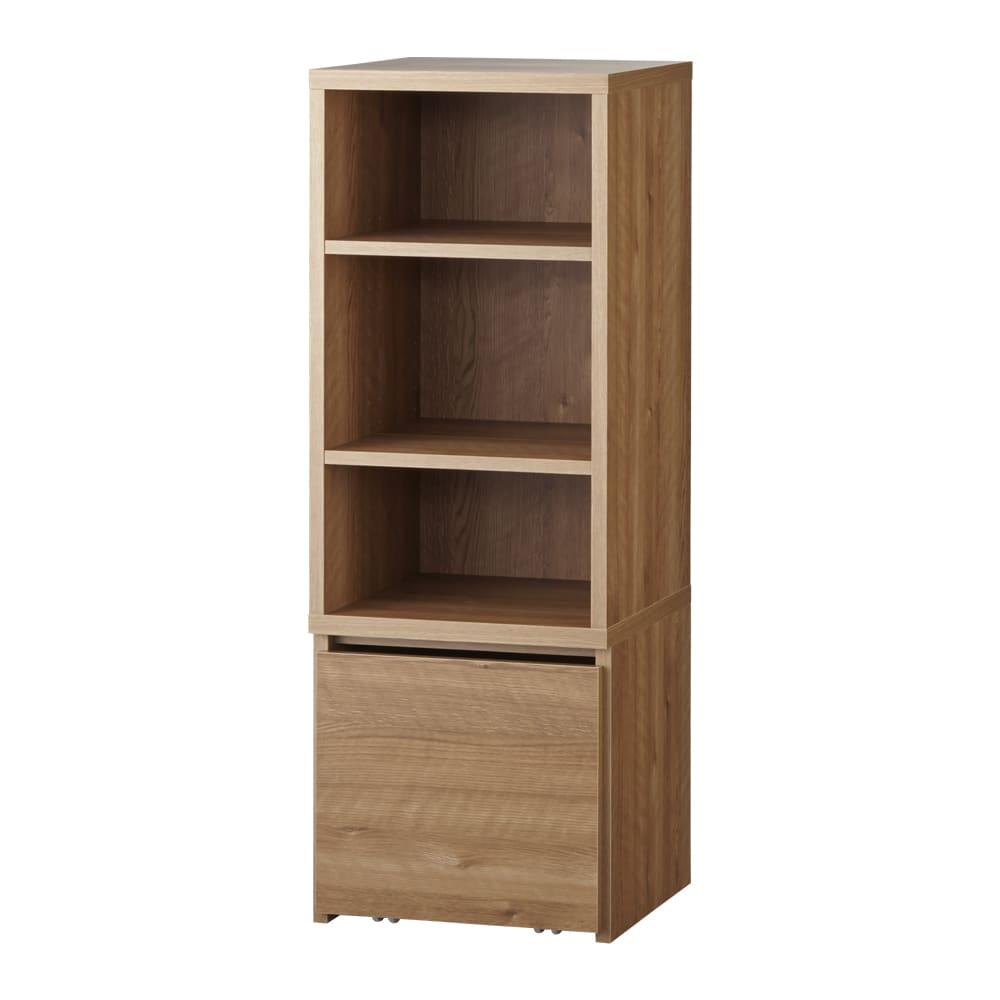 天然木調ブックシェルフ 高さ110cm 棚板は前後段違いで、3cmピッチで可動。