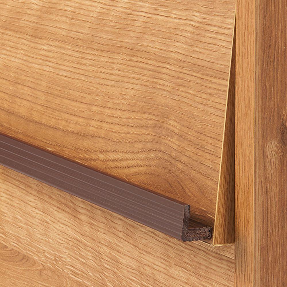 ヴィンテージウッド調 薄型マガジンキャビネット 上段専用 扉タイプ 2段3列[幅113cm奥行29.5cm高さ79cm] 雑誌やレコードが飾れるブラウンの取っ手がアクセント。