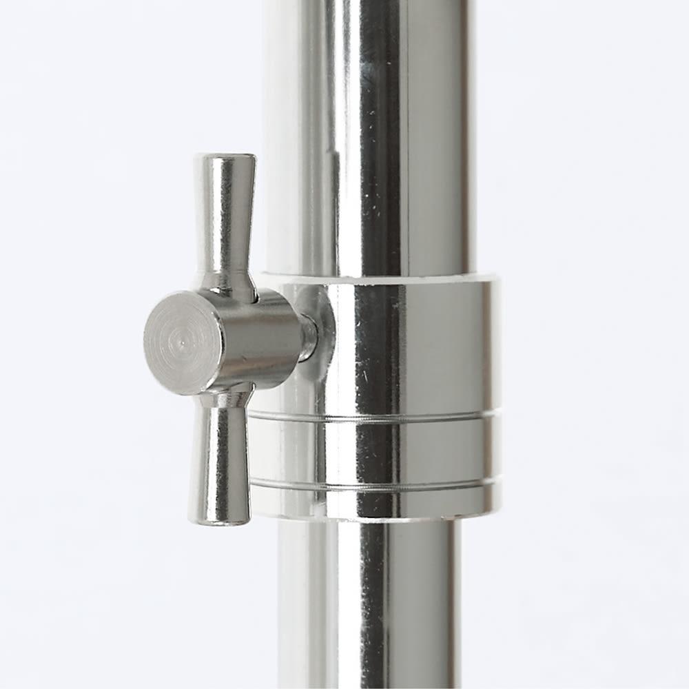 プロ仕様 上下2段頑丈ハンガーラック 幅87cm 中間リングは変形に強いスチール製。