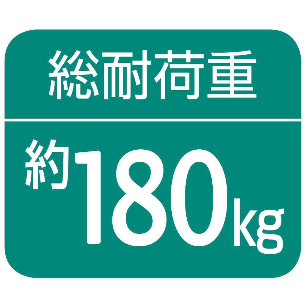 奥行30cm 光沢ブラッククローゼットハンガーラック ハイタイプ・幅140~250cm 【棚部分】約80kg、【上段ハンガー部分】約80kg、【下段ハンガー部分】約20kg(第三者公的機関調べ)