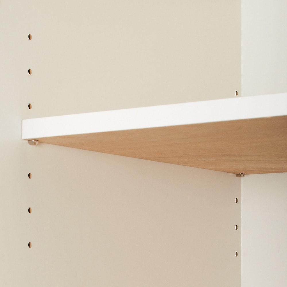 スタイリッシュな着物専用クローゼット 上棚&下盆収納・幅100cm 可動棚板は3cm間隔7段階でお好みの高さに設定できます。