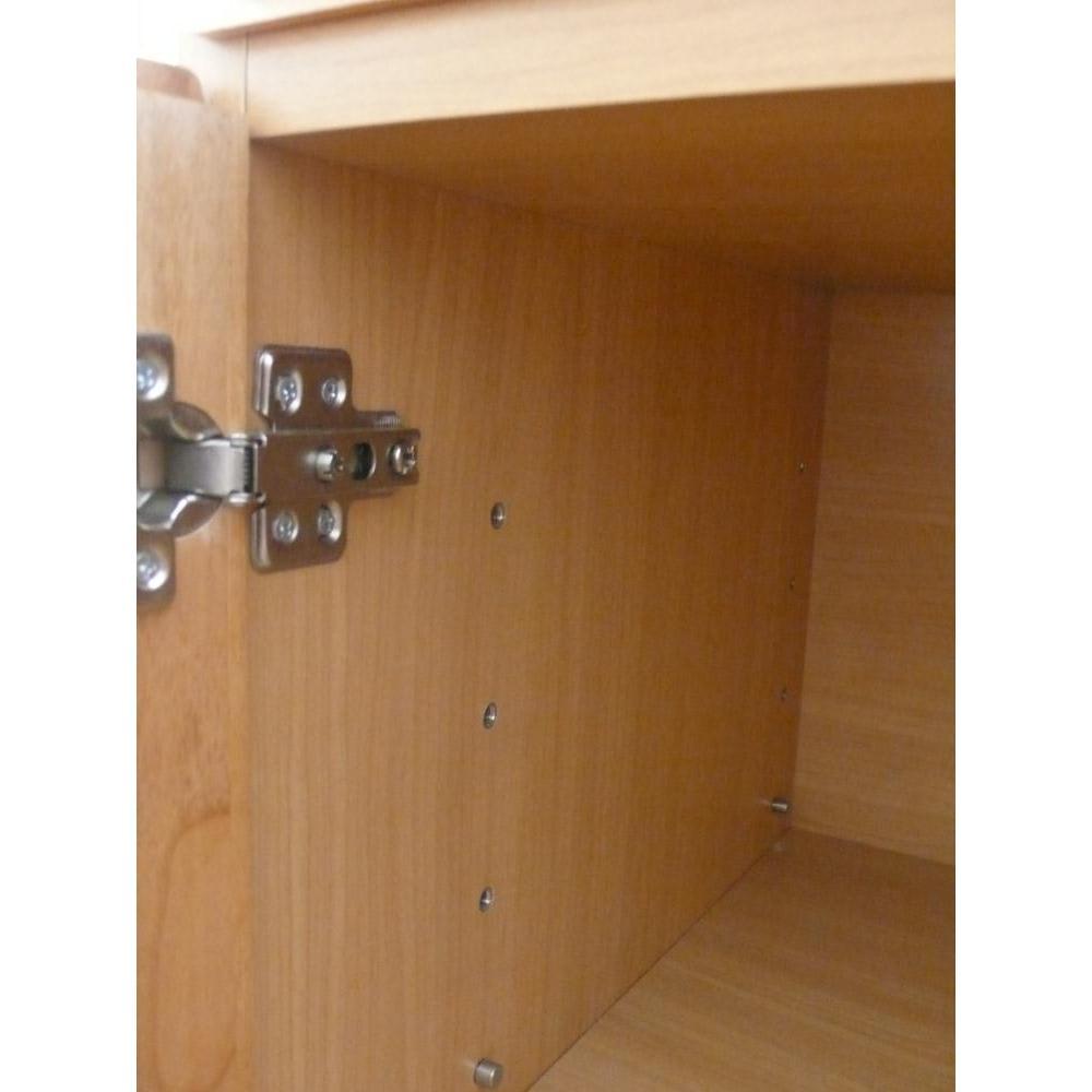 アルダー天然木ギャラリー収納シリーズ 幅80ボード 棚板は6cm間隔6段階で調節可能