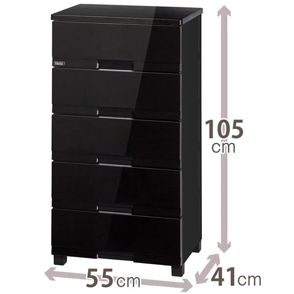 Fits フィッツプラスプレミアム 幅55cm 5段[FP5505 テンマ] (イ)オールブラック