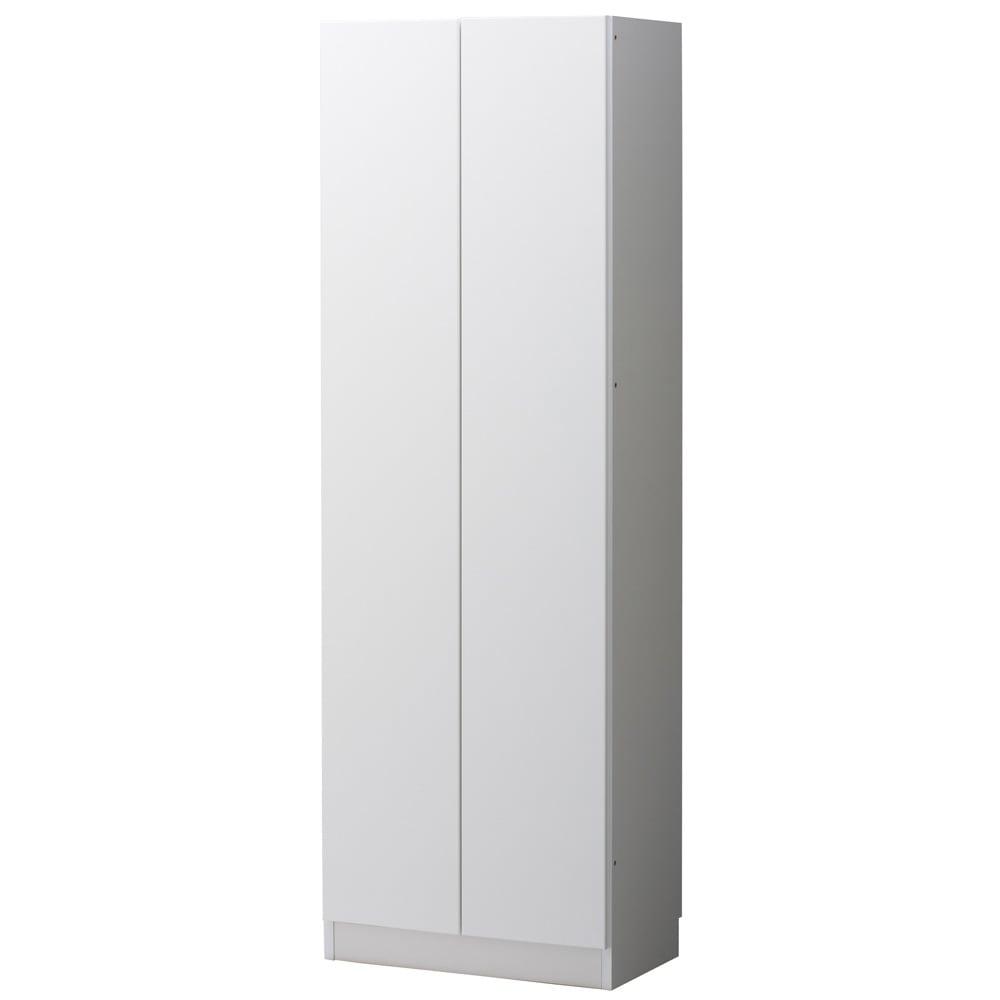 美しく飾れるシューズクローゼット 下駄箱扉タイプ 幅60cm高さ180cm (イ)前面:ホワイト・本体:ホワイト 幅60は2枚扉です。