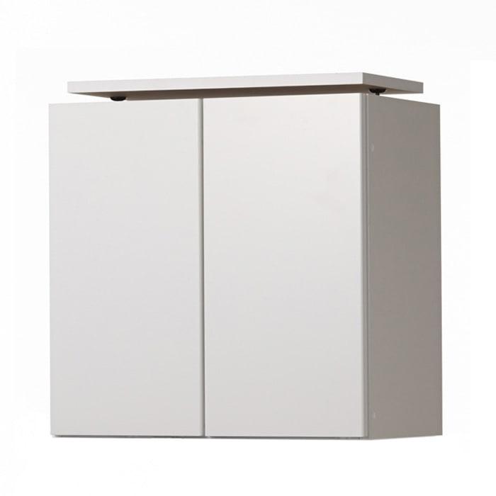 美しく飾れる壁面シューズクローゼット オーダー上置き(3枚扉) 幅119.5cm高さ26~90cm ≪色見本≫(イ)前面:ホワイト・本体:ホワイト