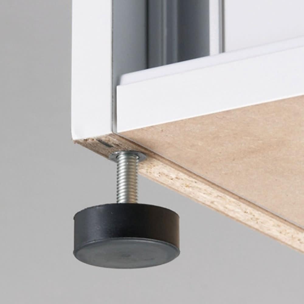 大量玄関収納 引き戸シューズボックス ロータイプ 幅92cm 足元には約1cm調節可能な水平アジャスター付き