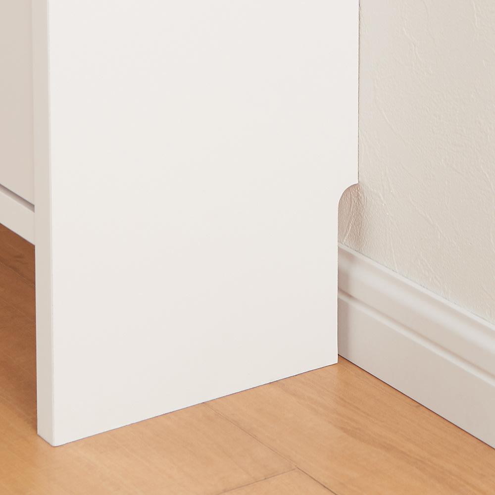 玄関小物ひとまとめチェスト 幅44cm 幅木カット(1×9cm)