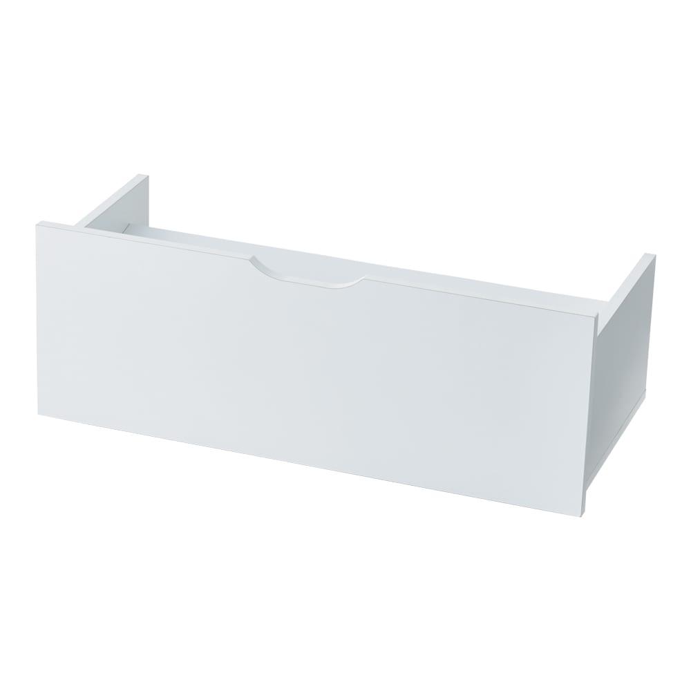 【日本製】下駄箱下木製シューズワゴン ロー(高さ20cm) 幅120cm (イ)ホワイト ※写真は幅80cmです
