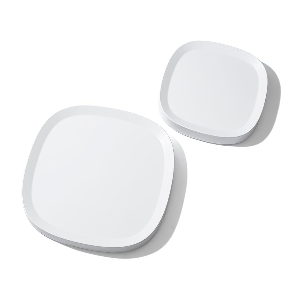 tidy/ティディ プランタブルキャスター付きトレー 左から ホワイト・L、ホワイト・S