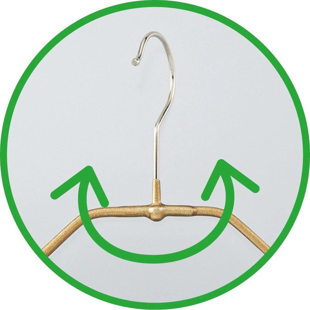 MAWAスリムハンガー(人体)15本組 フックが360度回転するので、使いやすい!