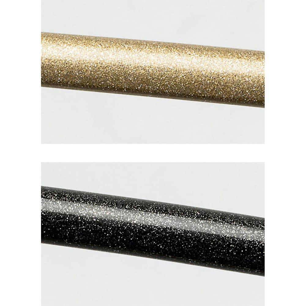 MAWAスリムハンガー(人体)15本組 上から(ア)(ウ)の色:シャイニーゴールド、(イ)(エ)の色:シャイニーブラック