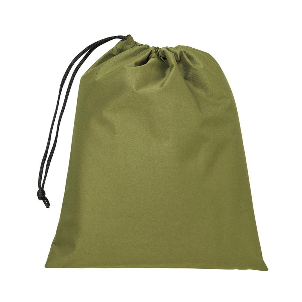 ゆったり防水レインコート&レインバイザー 収納袋付き。コンパクトに収納できます。