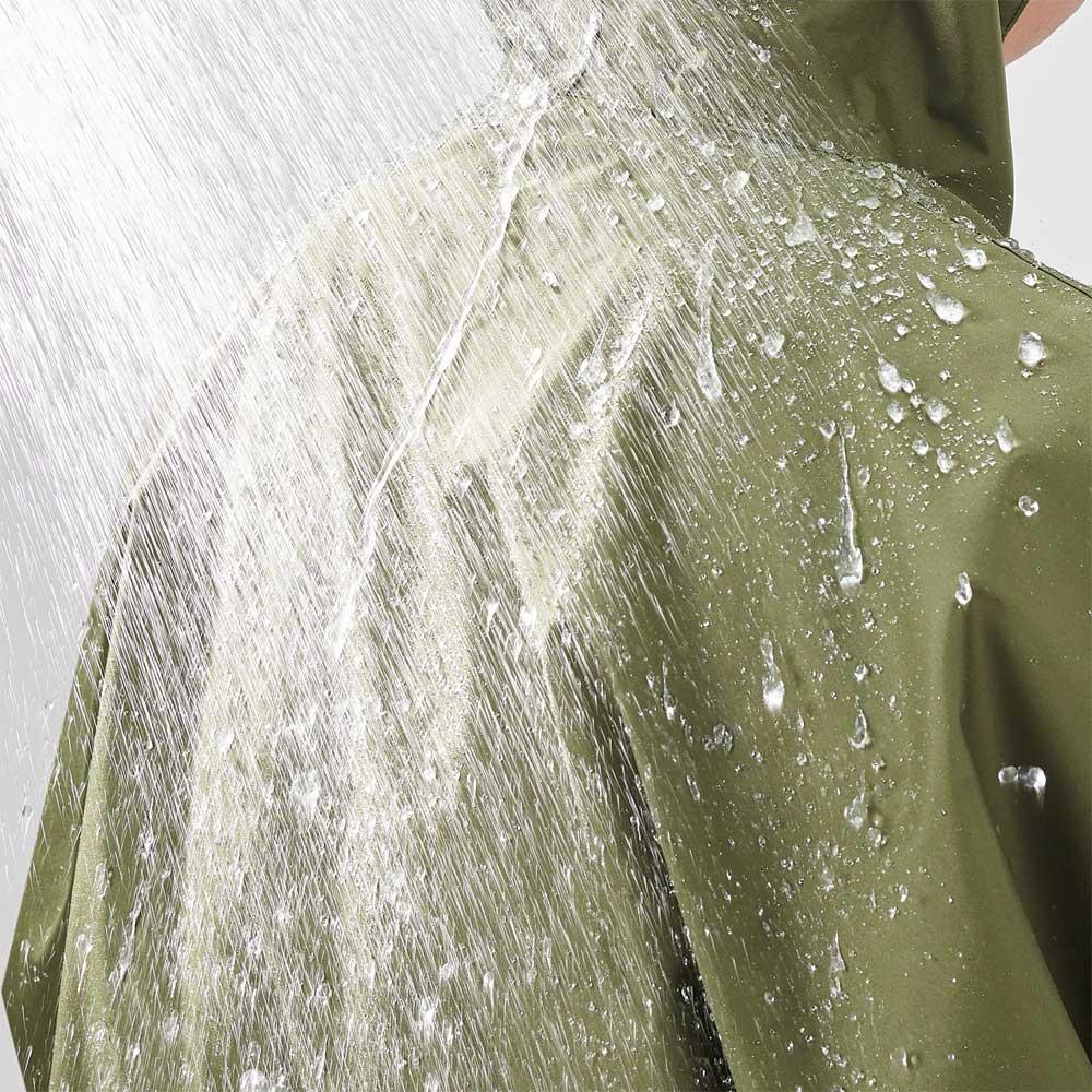 ゆったり防水レインコート&レインバイザー 防水:耐水圧2000mm以上。