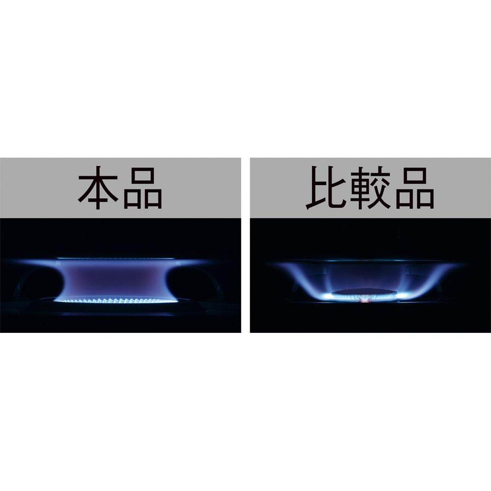 イワタニ エコカセットコンロ 内炎式バーナーは、鍋底をまんべんなく過熱し、熱を逃がしにくいため、燃料を効率的に使用できます。 ※イメージ