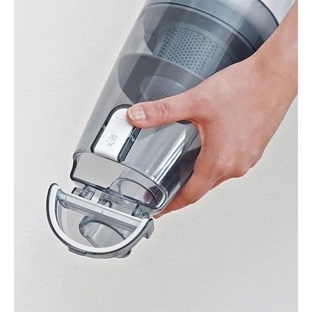 サイクロンスティック型2WAYクリーナー ワンタッチでゴミ捨て。水洗いOK。