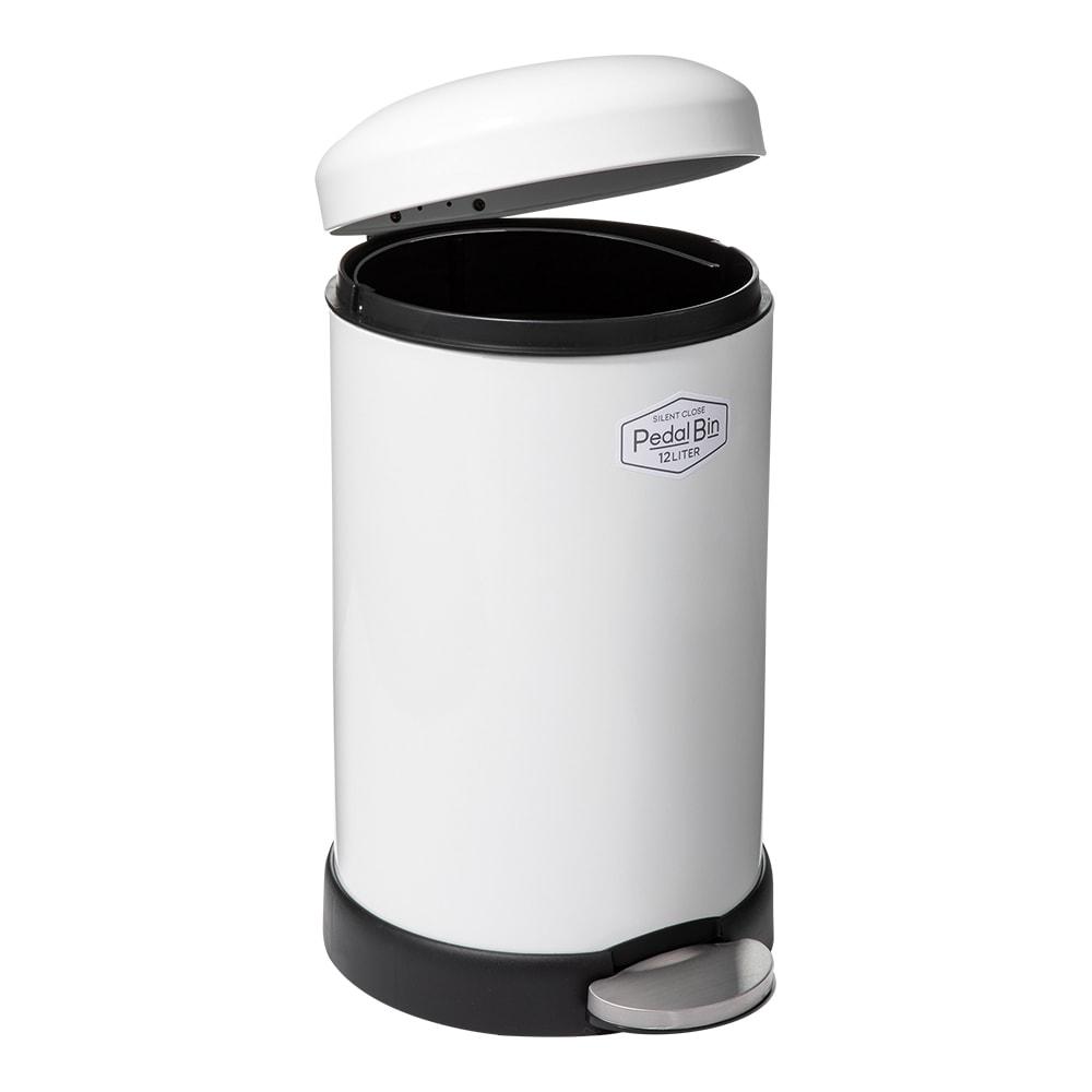 NEWサイレントクローズペダルゴミ箱 (イ)ホワイト