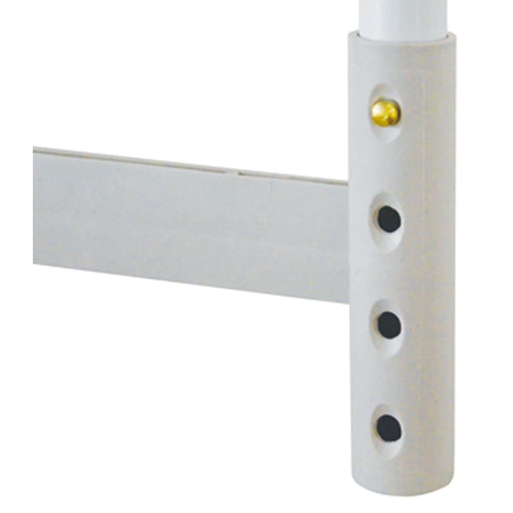 縦横伸縮 押し入れ整理棚 2個組 脚部に高さ調節機能がついており、4段階の高さ調節が可能(36/38/40/43cm)