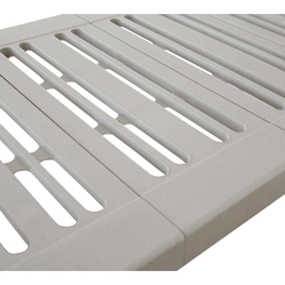 縦横伸縮 押し入れ整理棚 2個組 通気性の良い形状