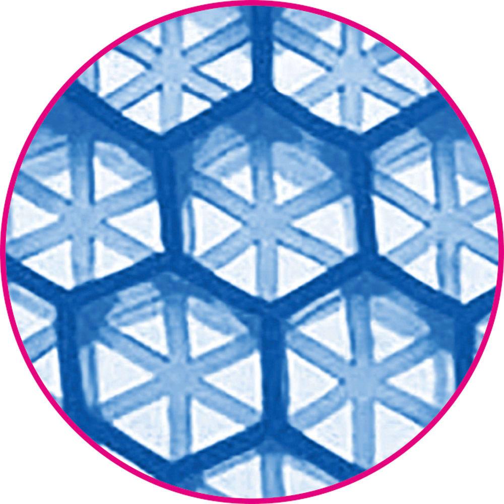 ハニカムゲルクッション2個組 ダブルハニカム構造の高弾性ゲルで、体圧を吸収・分散します。