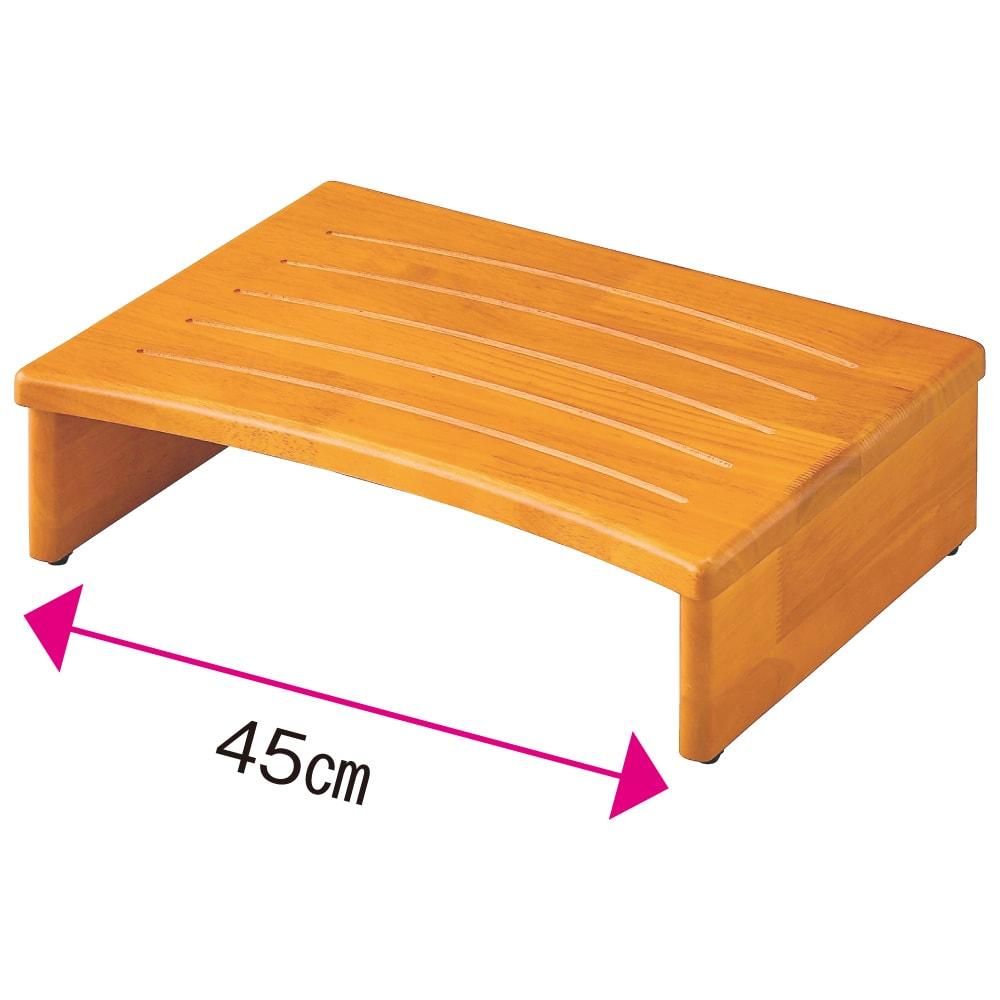天然木玄関踏み台 (ア)幅45cm