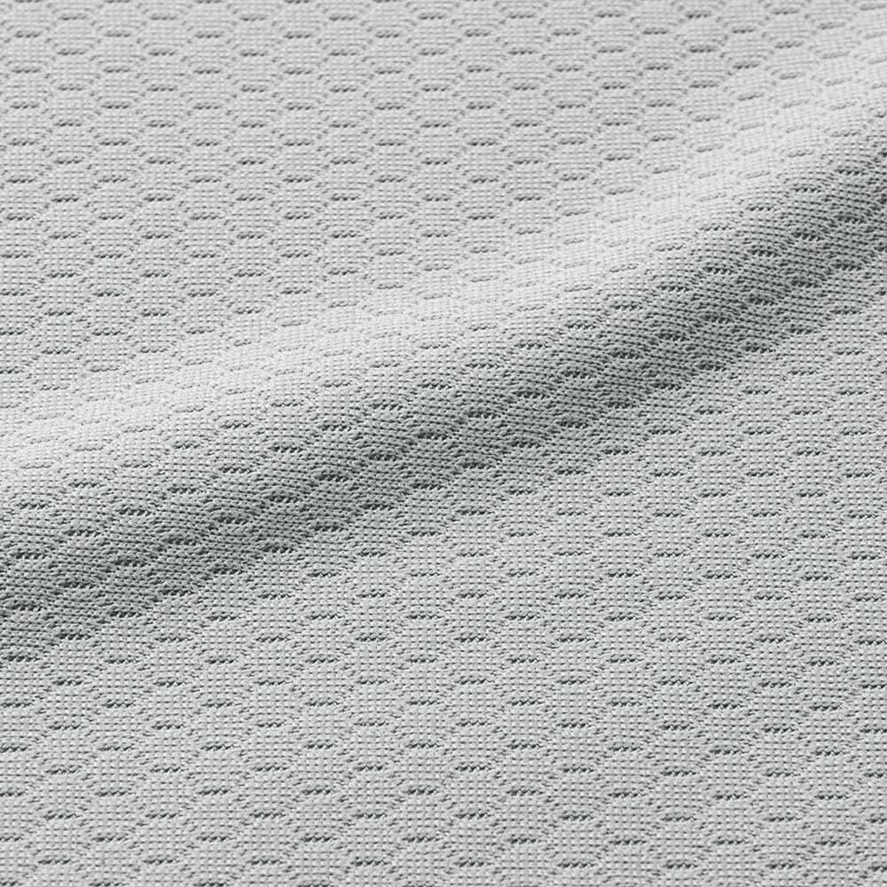ミズノ・dinos 共同企画商品 メディブレスピロー ピローケース付きセット 専用ピローケース生地アップ(カラー・ライトグレー):吸水速乾性に優れ、汗をかいても素早く吸収してサラリと気持ちいい。