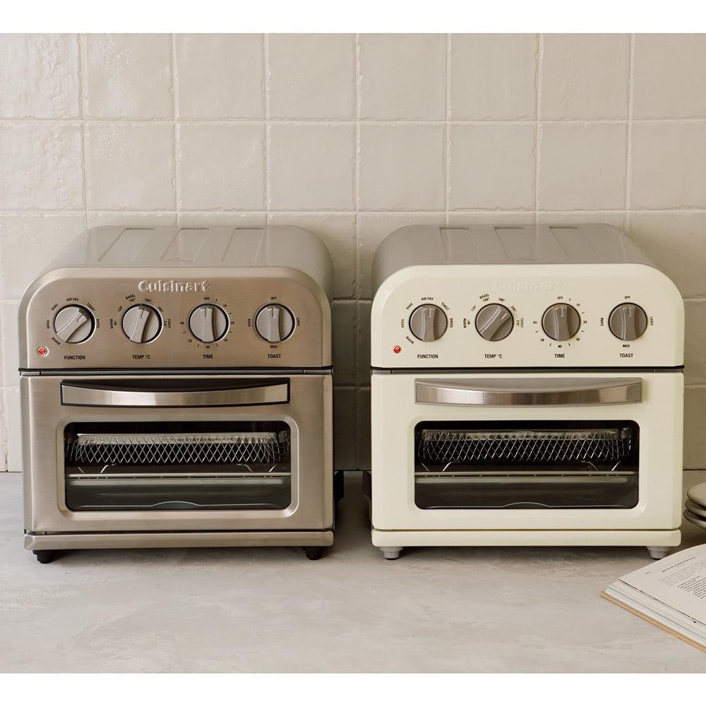 クイジナート エアフライオーブン トースター  アイボリー数量限定カラー 特典付き お届けするのは右のアイボリーカラーです。アイボリ―カラーは数量限定です!※アイボリーの天・側面はシルバーです。