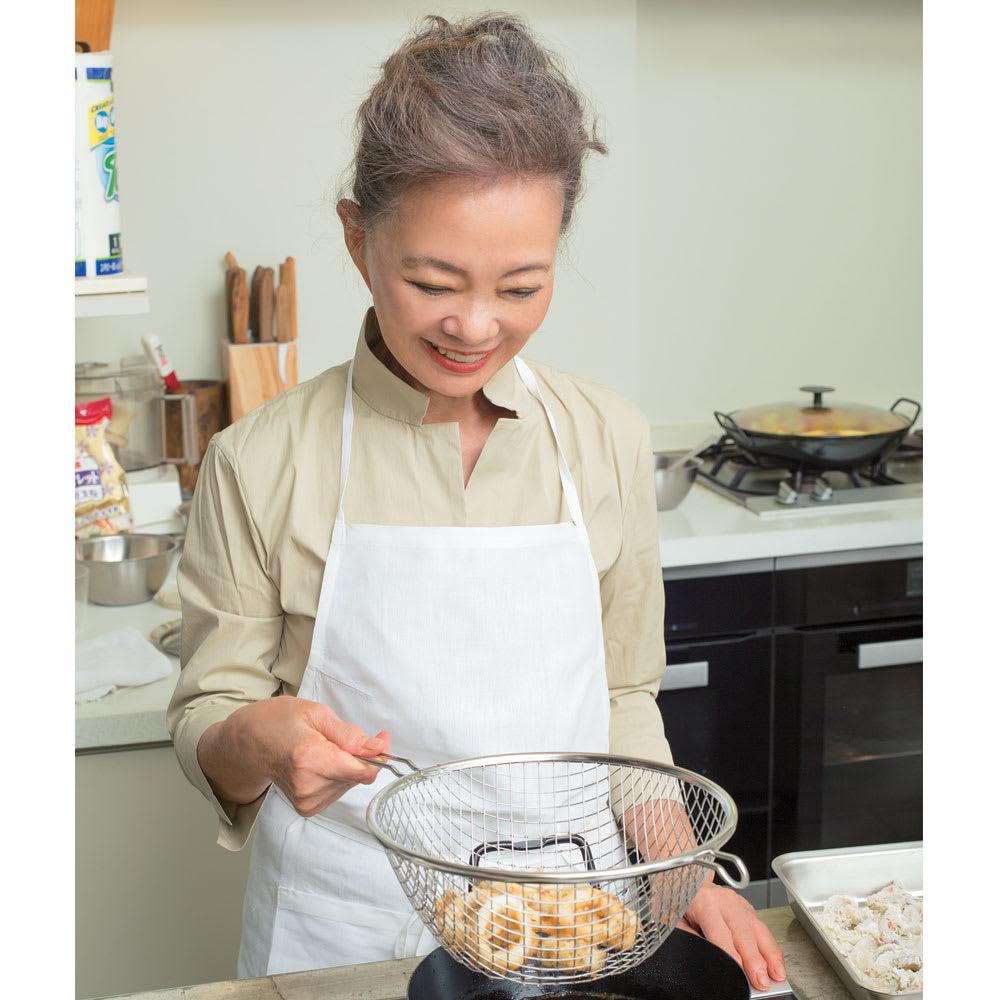 キッチン 家電 鍋 調理器具 土鍋 直径28cm (鉄の揚げ鍋3点セット) 561702
