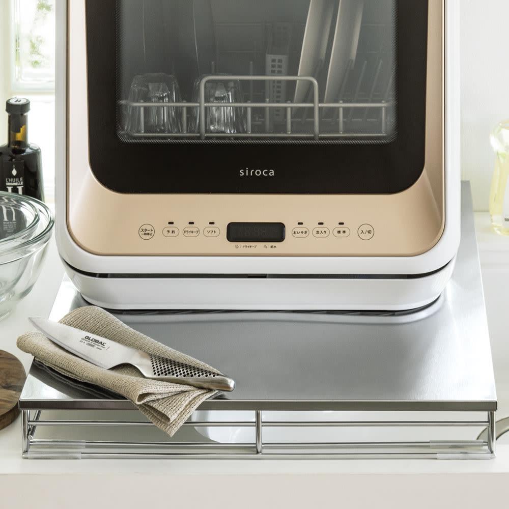 家具 収納 キッチン収納 食器棚 レンジ台 レンジラック キッチンラック シンクに渡せる食洗機ラック 563479