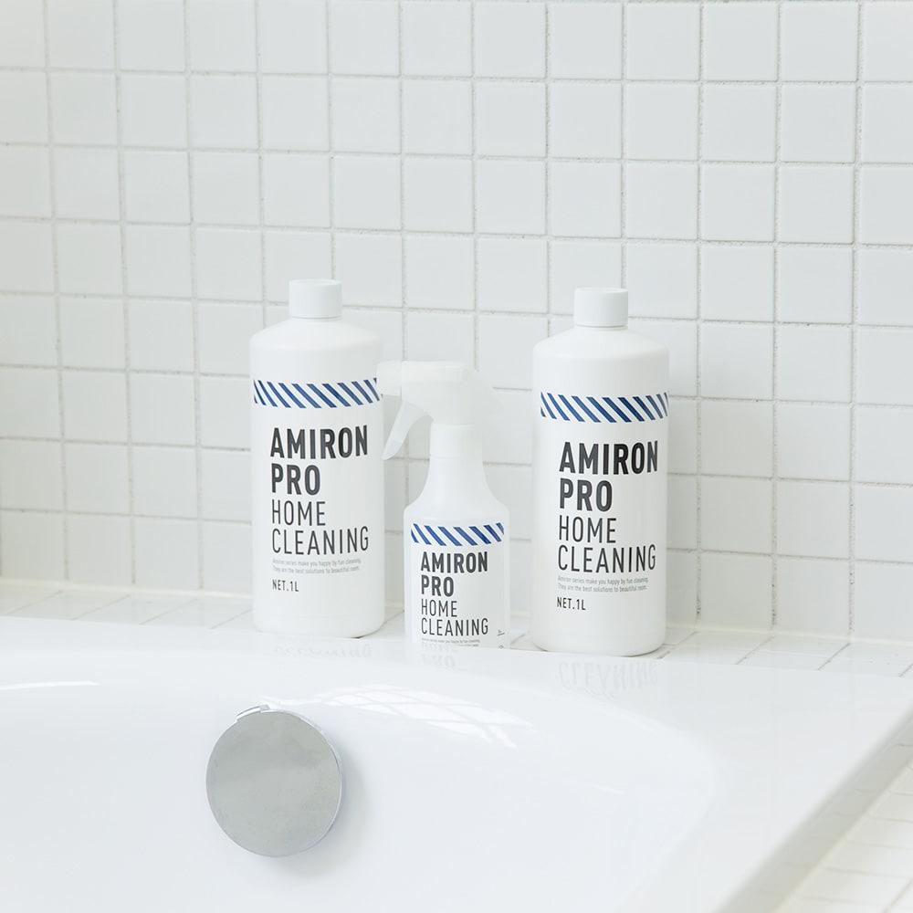 業務用 多目的洗剤「アミロンプロ」 2Lセット(1L×2本) ロングセラーアミロンシリーズ。清潔感あふれるおしゃれなパッケージです。