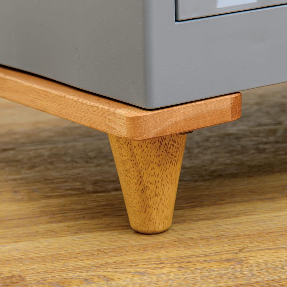 コンテナストレージボックス 専用天板&木製脚セット よりインテリア性をアップしてくれるモダンな木製脚が新登場。
