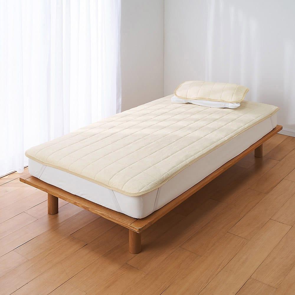 【2019年モデル】長く続く清涼感 麻混ナガークールシリーズ ふんわりニットタイプ 敷きパッド ほどよく涼しい 麻混ふんわりニットタイプ ※お届けは敷きパッドです