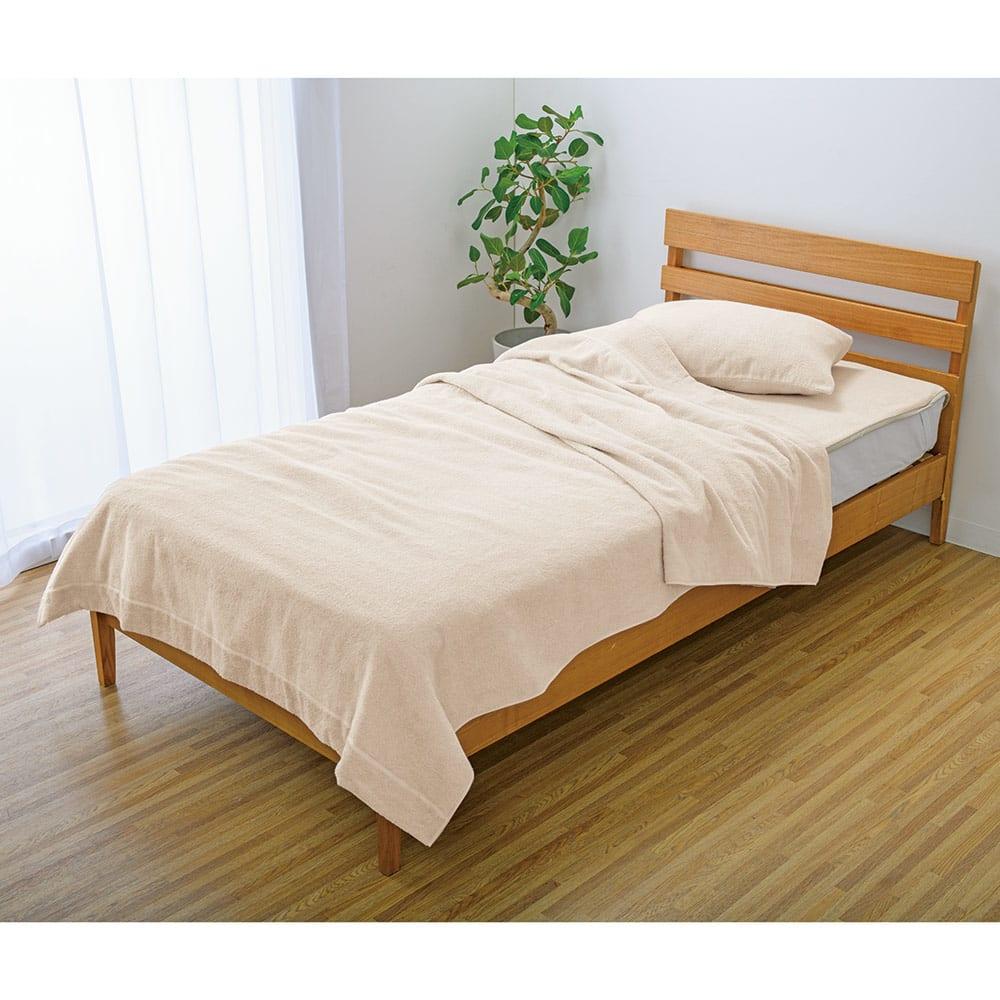 今治製タオルの寝具シリーズ お得なタオルケットシングル3点セット(ピローケース付き)無染色