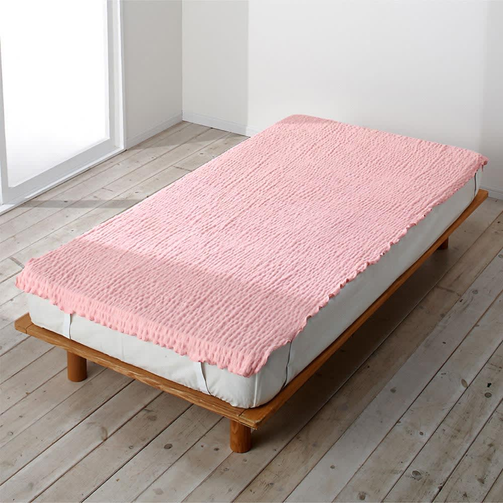 ふわふわ感が長く続く 新・くしゅくしゅ&ふわふわ タオル寝具シリーズ タオルシーツ