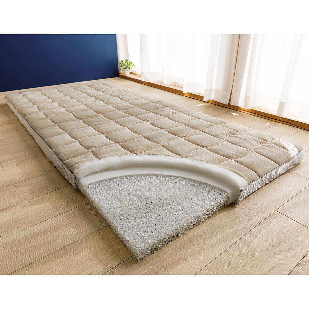 朝が違う。敷布団の決定版! ブレスエアー(R)敷布団 ネオ シリーズ 3つ折り敷布団 ※写真はシングルサイズです。