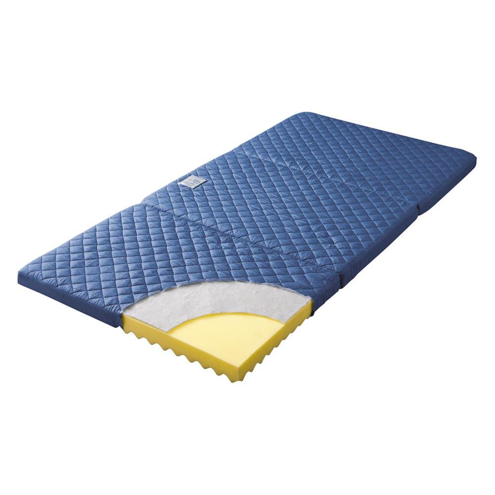 【アキレス×dinos】3つ折りマットレスシリーズ 厚さ7cm 調湿タイプ [調湿タイプ] 調湿くん(R)のシリカゲルが、汗臭や加齢臭の原因物質まで吸着。ジメジメやダニだけでなく、ニオイも防げるマットレスです。