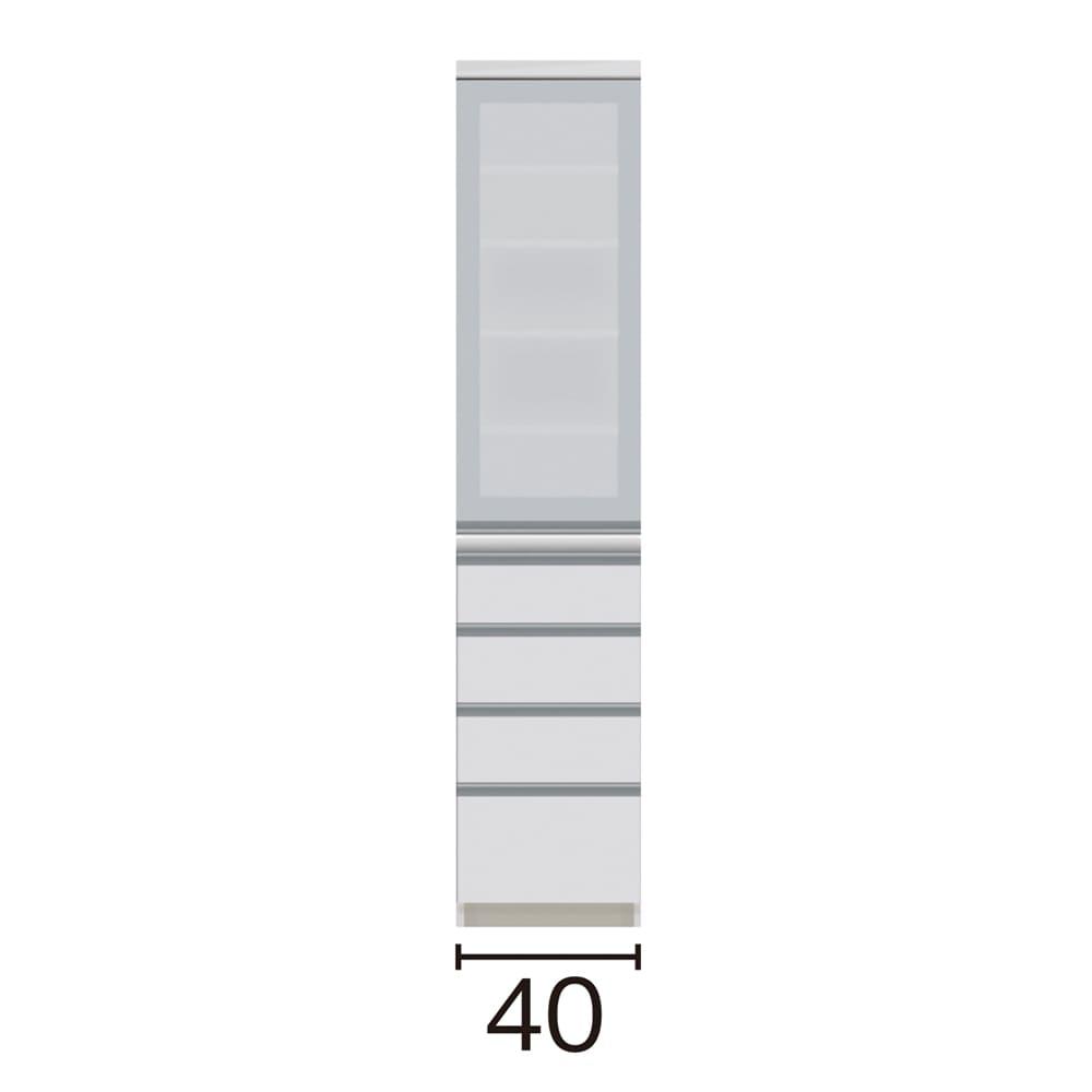 サイズが豊富な高機能シリーズ 食器棚引き出し 幅40奥行50高さ187cm/パモウナ JZ-400KL JZ-400KR