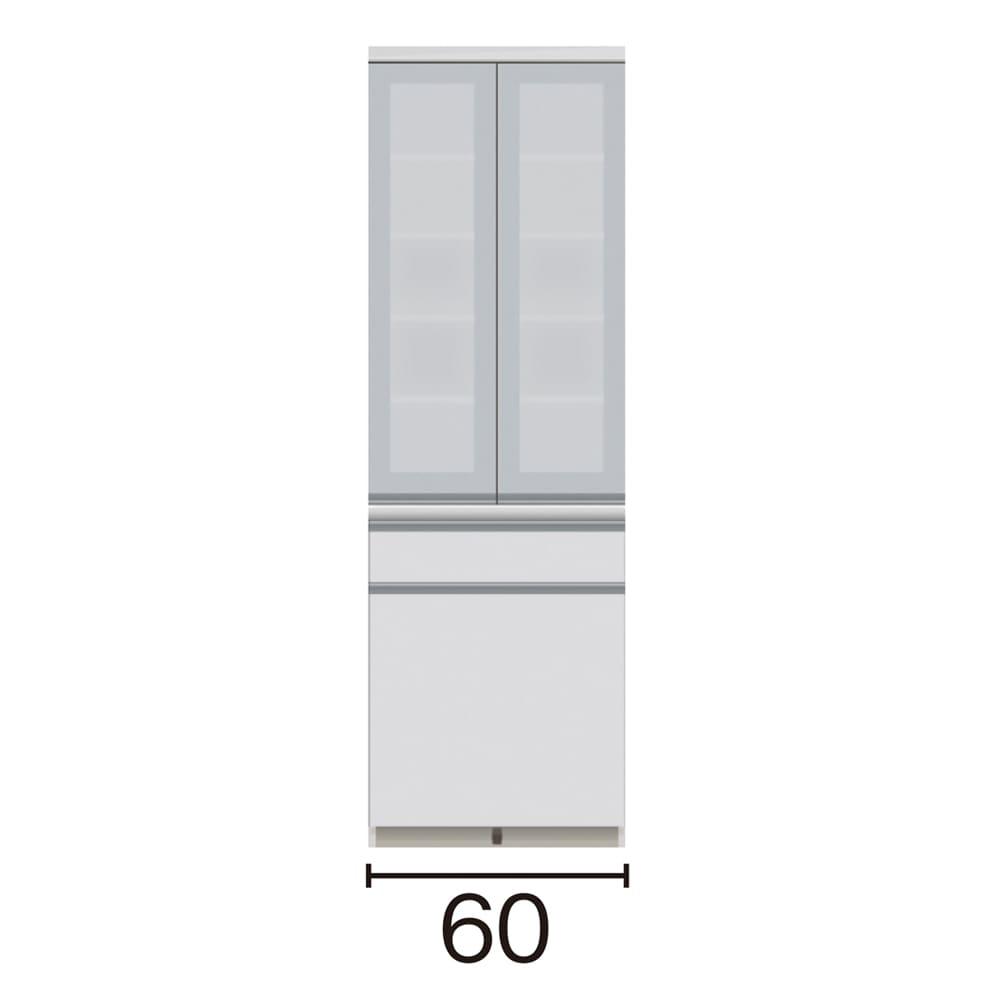 サイズが豊富な高機能シリーズ 食器棚深引き出し 幅60奥行50高さ187cm/パモウナ JZ-601K