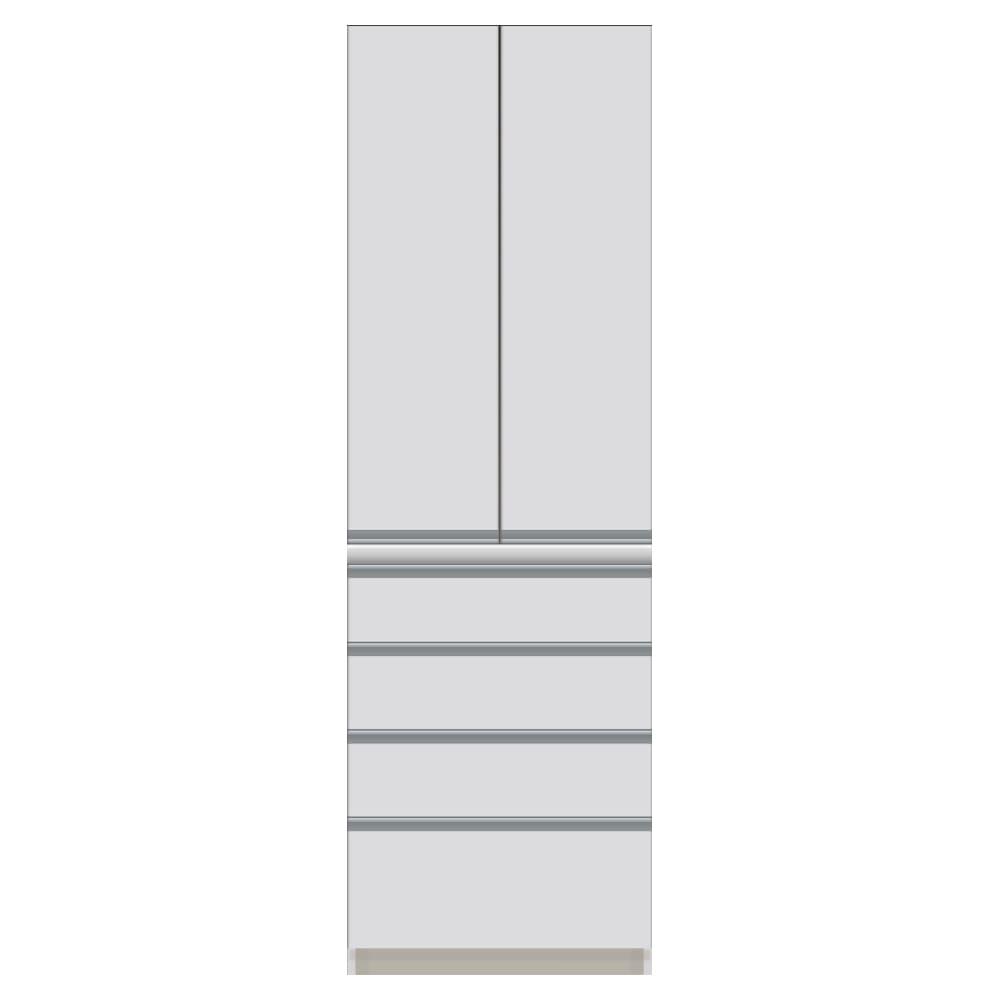 サイズが豊富な高機能シリーズ 板扉タイプ 食器棚引き出し4杯 幅60奥行45高さ187cm/パモウナ DZ-S600K