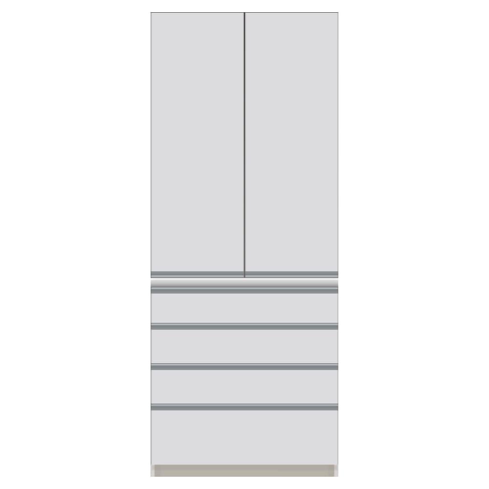 サイズが豊富な高機能シリーズ 板扉タイプ 食器棚引き出し4杯 幅80奥行45高さ198cm/パモウナ CZ-S800K