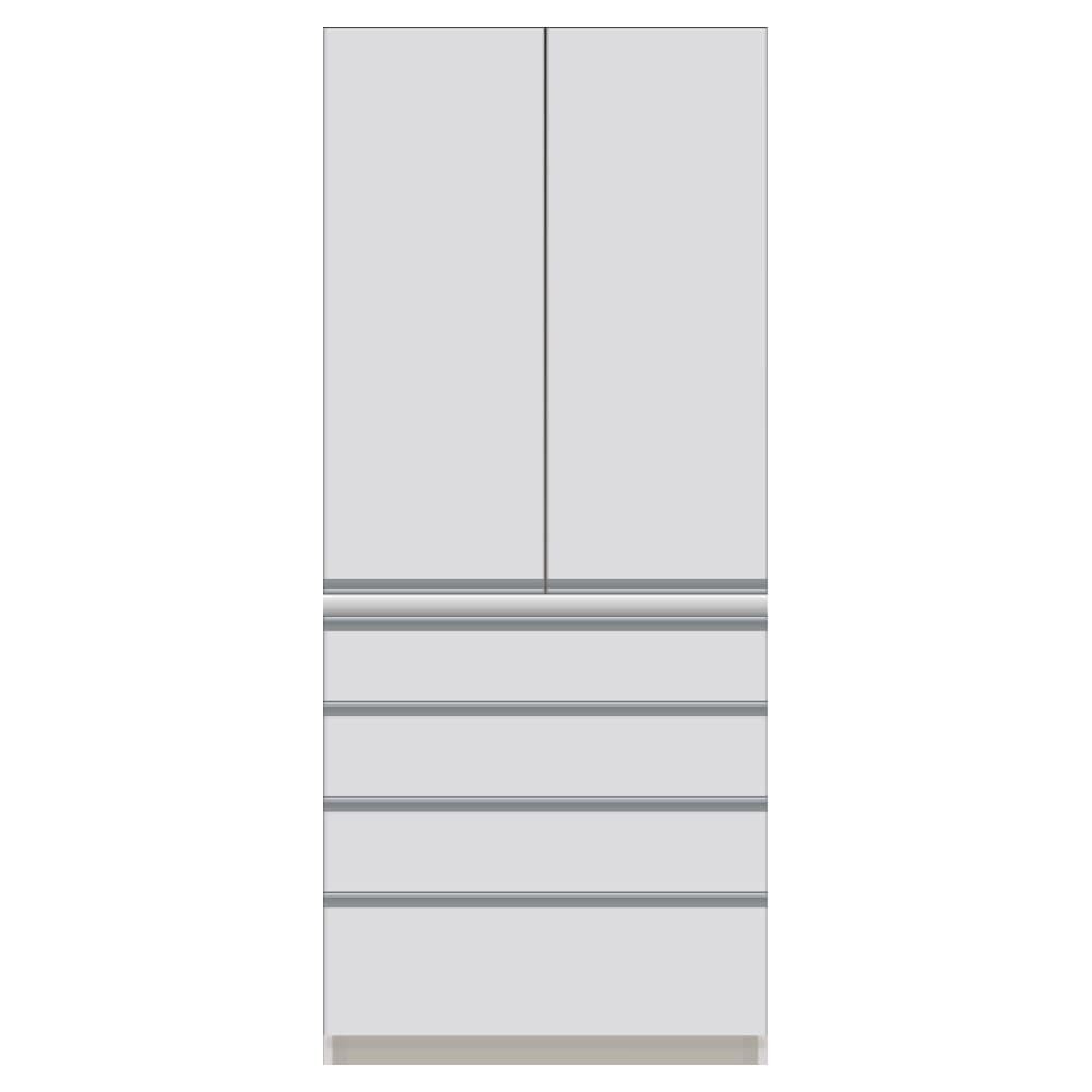 サイズが豊富な高機能シリーズ 板扉タイプ 食器棚引き出し4杯 幅80奥行50高さ187cm/パモウナ DZ-800K