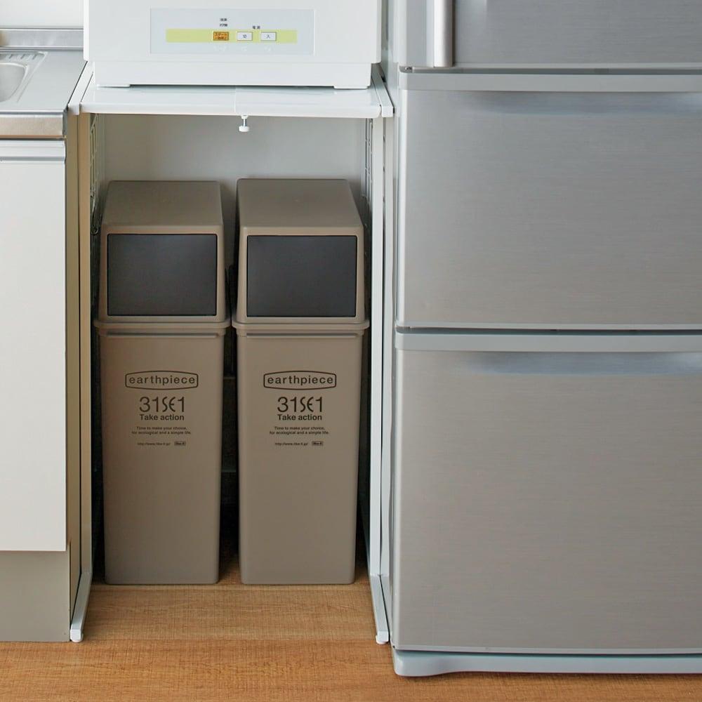 家具 収納 キッチン収納 食器棚 キッチン隙間収納 幅が伸縮するキッチン作業台ラック 奥行55cm 幅30cm~50cm 570207