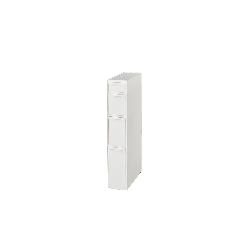 引き出しいっぱいスリムキッチンストッカー 4段(高さ91.5cm)・幅17cm わずかなすき間に入る幅17cm。深さの異なる引き出しに効率よく収納できます。