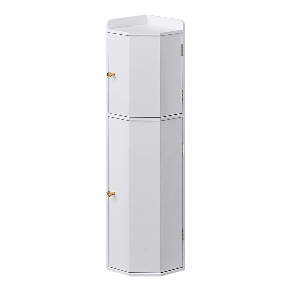 こだわりトイレの木製コーナーラック 上部ゴミ箱付き 高さ75cm ホワイト/ナチュラル/ダークブラウン トイレ収納・トイレラック・サニタリー雑貨
