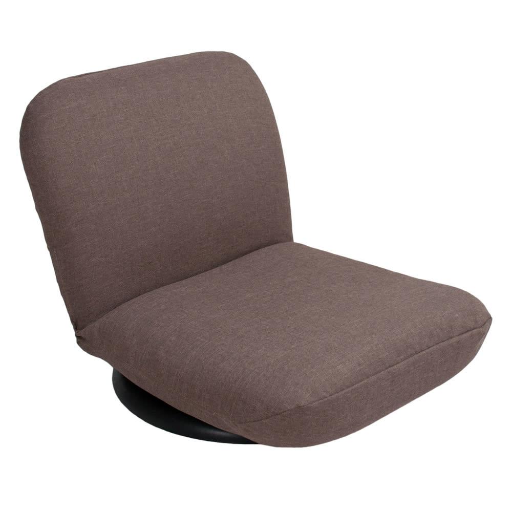特許を取得した腰に優しい回転座椅子 ロータイプ専用カバー ブラウン