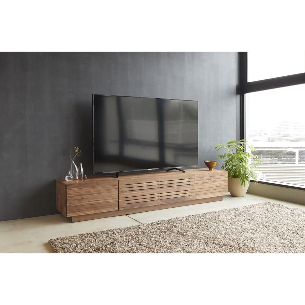 天然木無垢材のテレビ台 ウォルナット天然木 幅200cm テレビ台・テレビボード