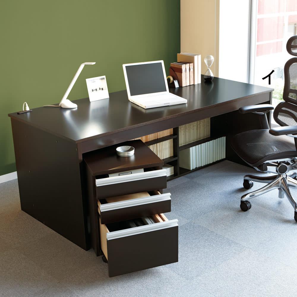 家具 収納 ホームオフィス家具 ワークデスク 書斎机 事務机 奥行たっぷり収納デスク 幅140cm 571704