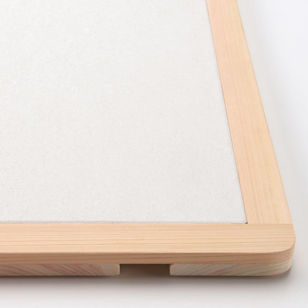【サイズオーダー】 soleau/ソレウ 吸水・速乾・消臭バスマット&ひのきスノコセット 幅36・41・46cm/奥行46cm よりシンプルで上品なデザイン。
